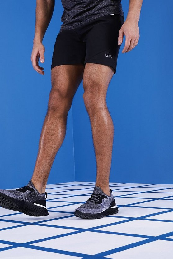 MAN Gym Split Hem Shorts