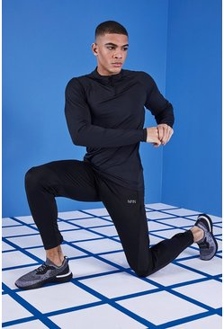 MAN Gym Mesh Panel Jogger, Black, МУЖСКОЕ
