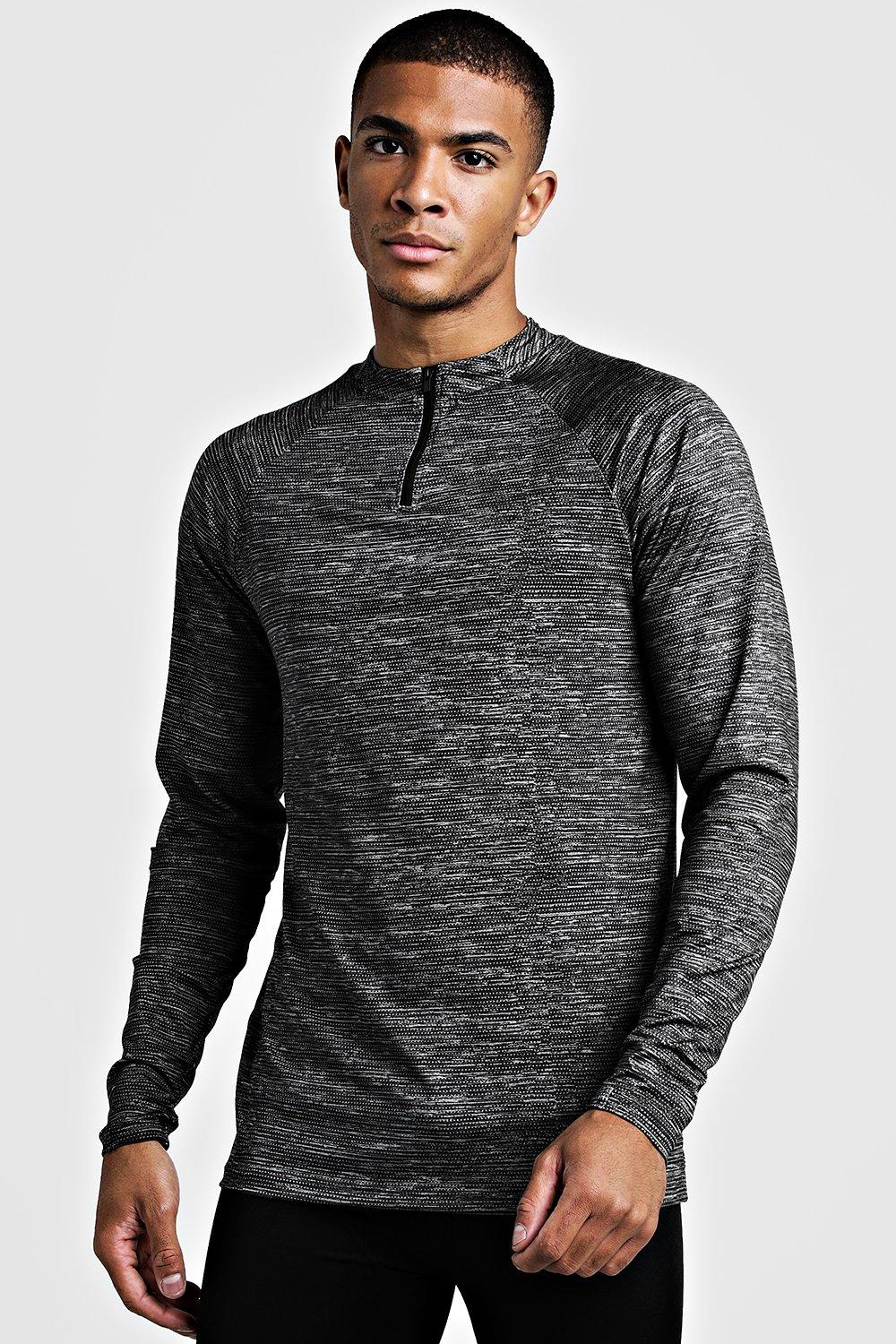 MAN Gym Raglan Funnel Neck Top
