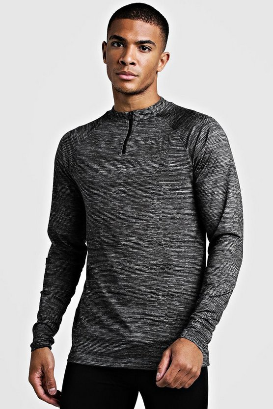 MAN Gym Raglan Funnel Neck Top, Black, МУЖСКОЕ