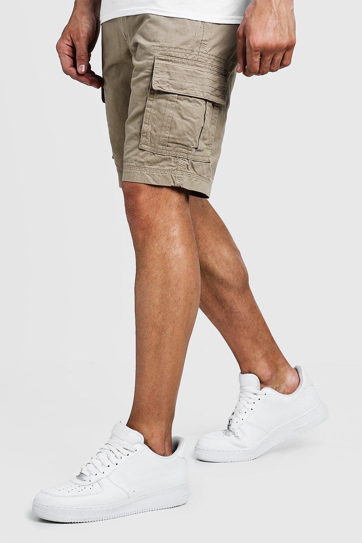 Slim Fit Cotton Cargo Short