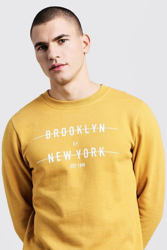 City Print Crew Neck Sweater