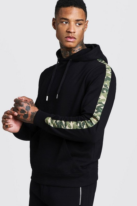 Camo Tape Detail Over The Head Hoodie