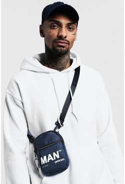 Mens Navy MAN Branded Mini Crossbody