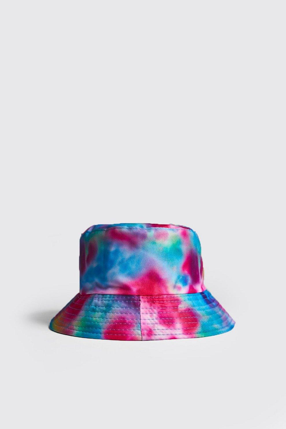 6c40e6fa421e5 Mens Multi Tie Dye Bucket Hat