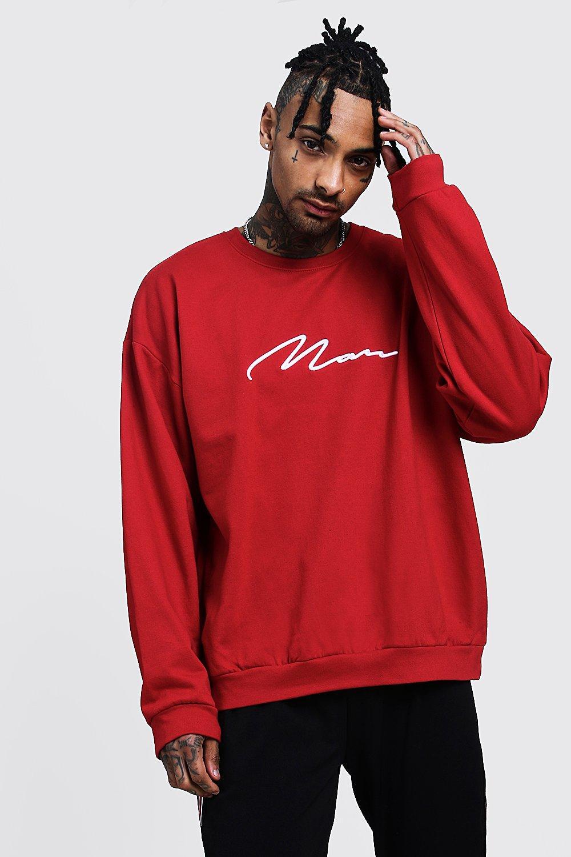 Oversized 3D MAN Signature Sweater