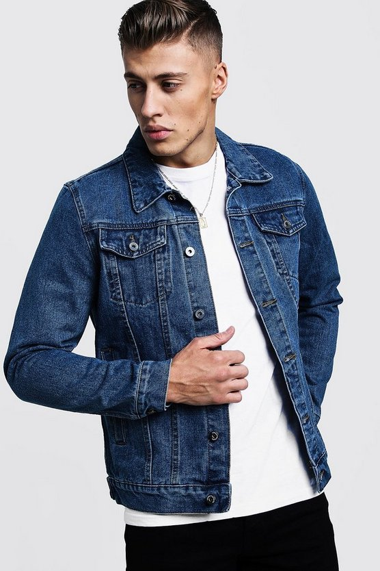 Mens Stonewash 4 Pocket Denim Jacket