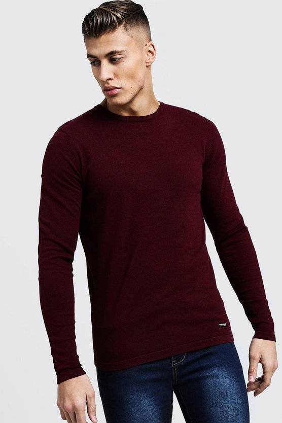 Muscle Fit Knitted Jumper