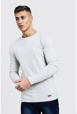 Mens Ecru Muscle Fit Knitted Jumper