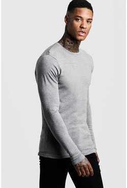 Muscle-Fit Strickpullover, Anthrazit, Herren