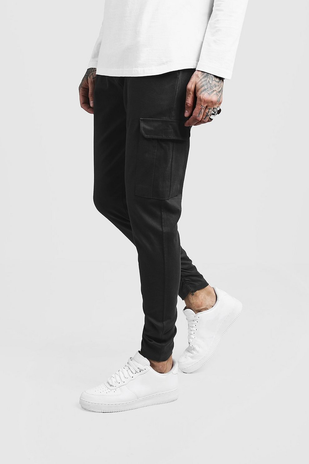 f7ddd3a0863 Skinny Fit Twill Trouser With Cargo Pocket