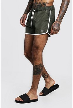 Herr Khaki MAN Signature Runner Swim Short