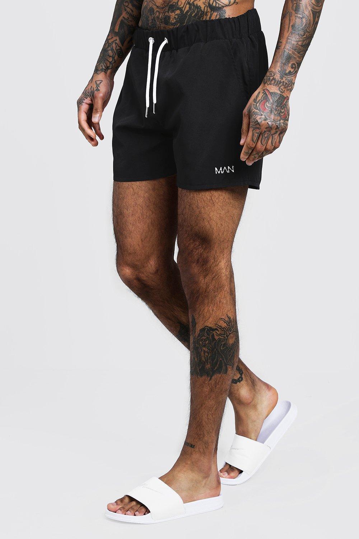 MAN Signature Mid Length Swim Short