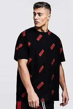 Oversized Box Logo Repeat T-Shirt