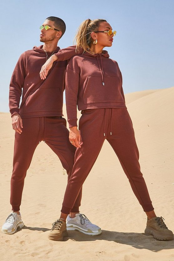 Mens Nutmeg His Hooded Tracksuit With Sleeve Embroidery