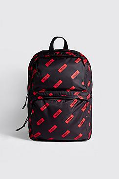 MAN Red Box All Over Print Backpack
