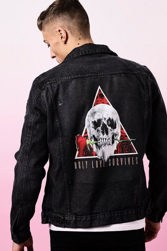 Valentines Only Love Survives Denim Jacket