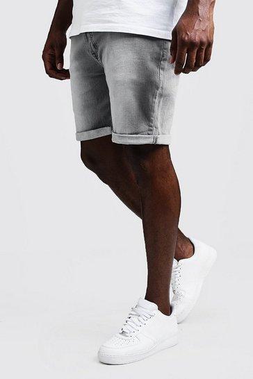 e92947db4a Big & Tall Stretch Skinny Fit Grey Denim Short