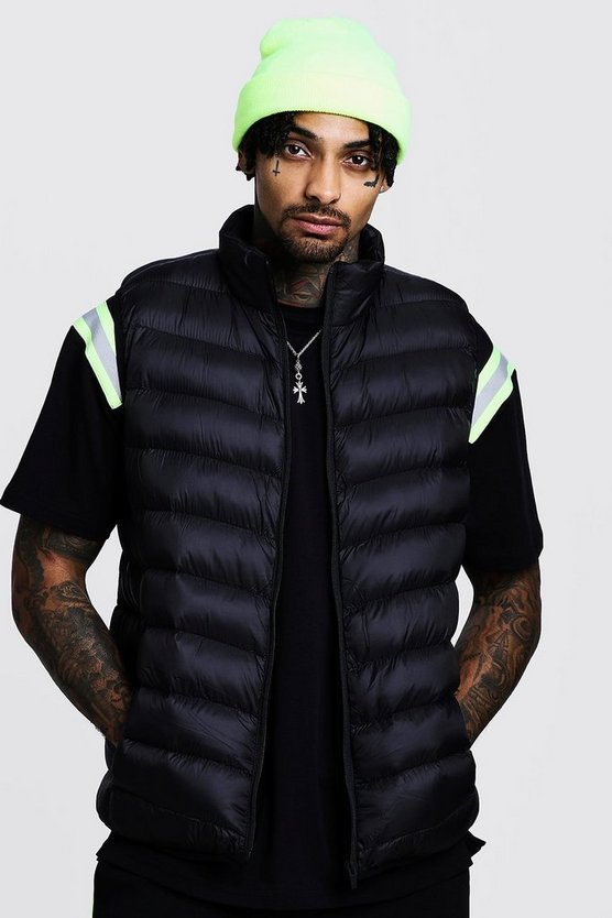 Sleeveless Funnel Neck Puffer