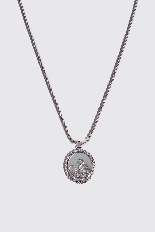 Цепочка с монетами с гравировкой, Silver