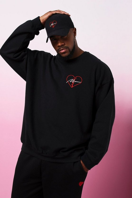 Big & Tall Valentines MAN 'Broken Heart' Sweater