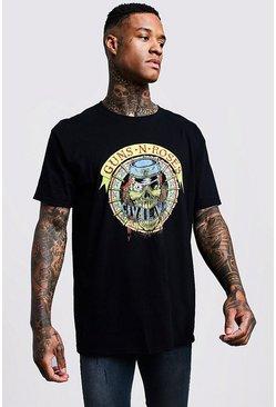Shirt N T Guns 34jlqc5ar Tourboohoo Roses Oversize lwukiTOZPX