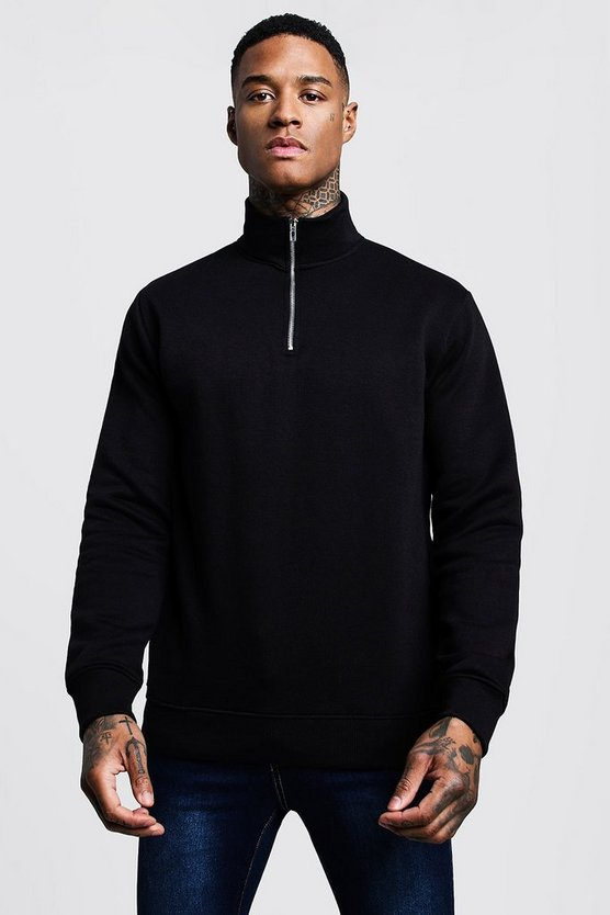 Funnel 3/4 Neck Zip Sweat