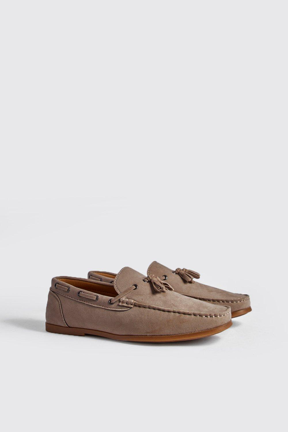 Faux Suede Loafer With Tassel