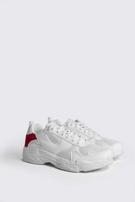 Chunky Trainers With Contrast Heel Panel