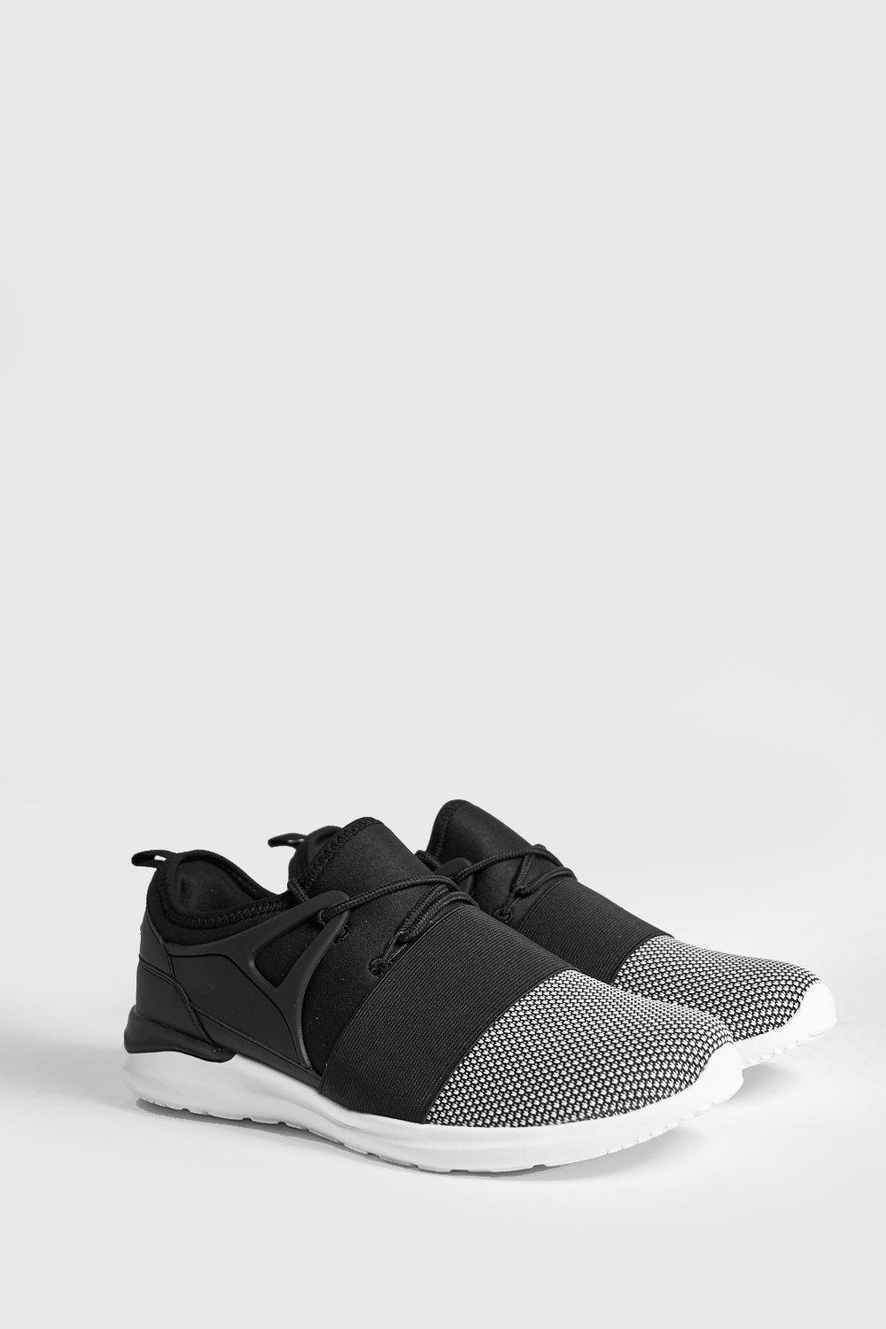 Elastic Detail Contrast Front Trainers