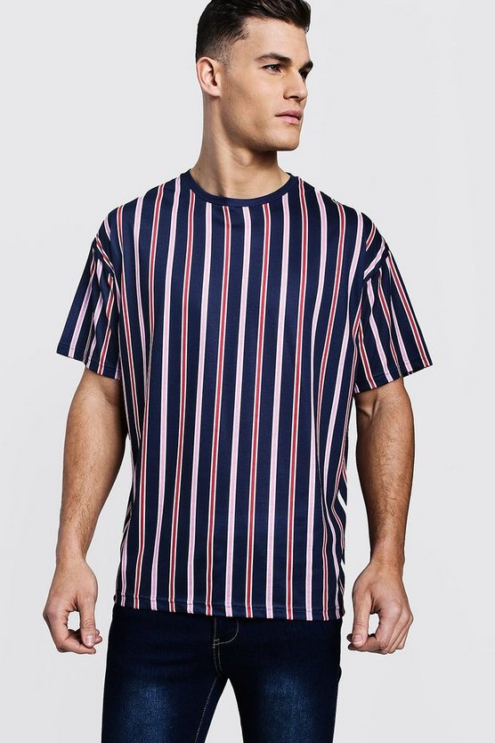 Navy Stripe Oversized T-Shirt
