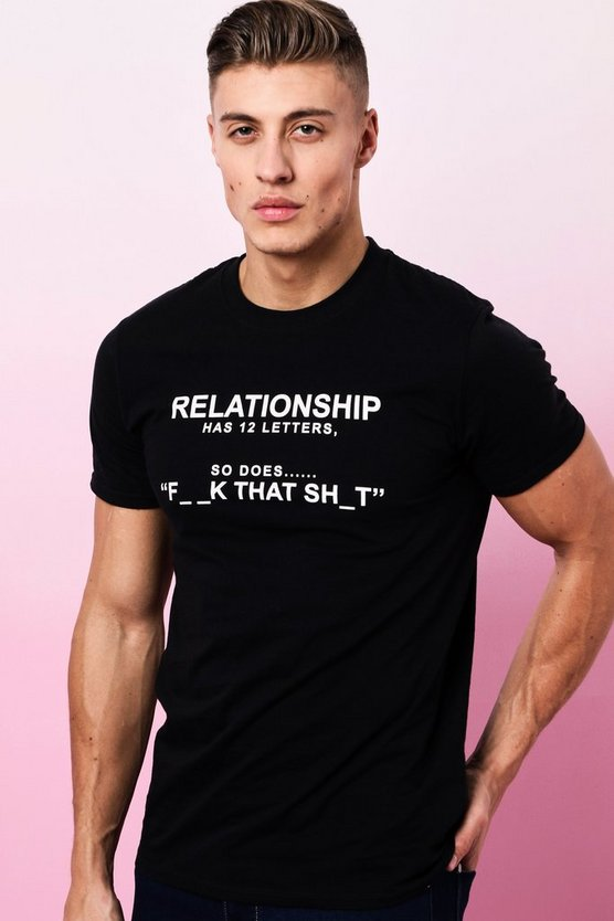Valentines Relationship Printed T-Shirt