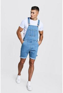 Vintage wash Slim Fit Short Length Overalls