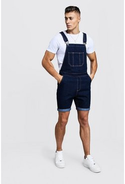 Indigo Slim Fit Short Length Overalls