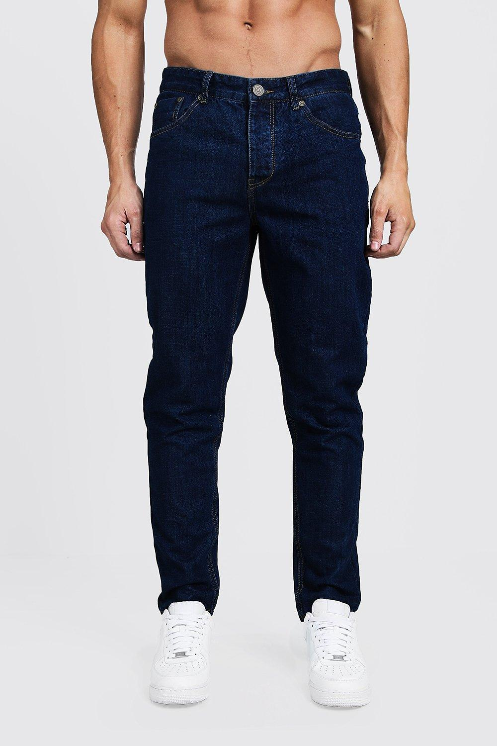 Tapered Fit Mid Blue Denim Jeans