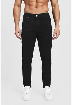 Herr Tapered Fit Black Denim Jeans