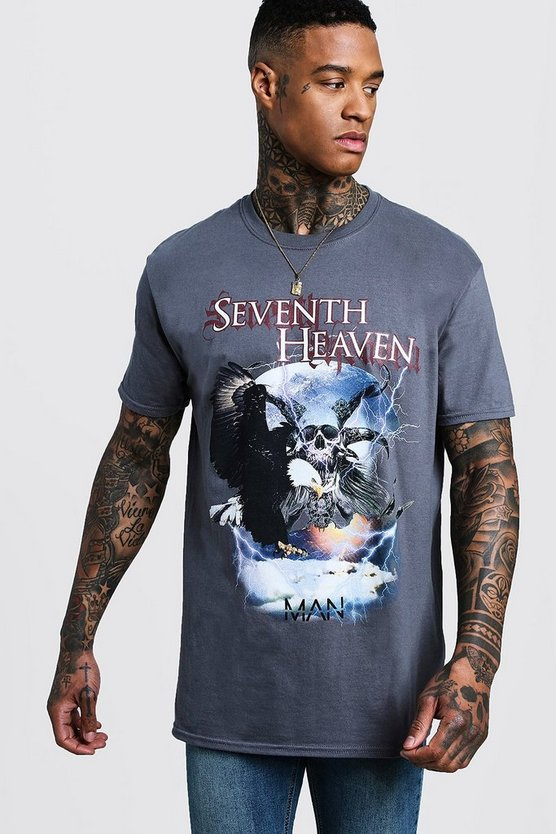 Grey Loose fit Seventh Heaven Design T-Shirt
