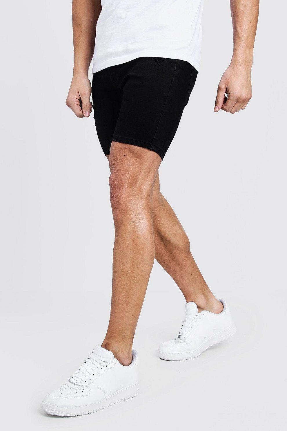 Camuflaje Trasera Parte Con Cortos La Denim En De Pantalones Skinny LpVGjSzqUM