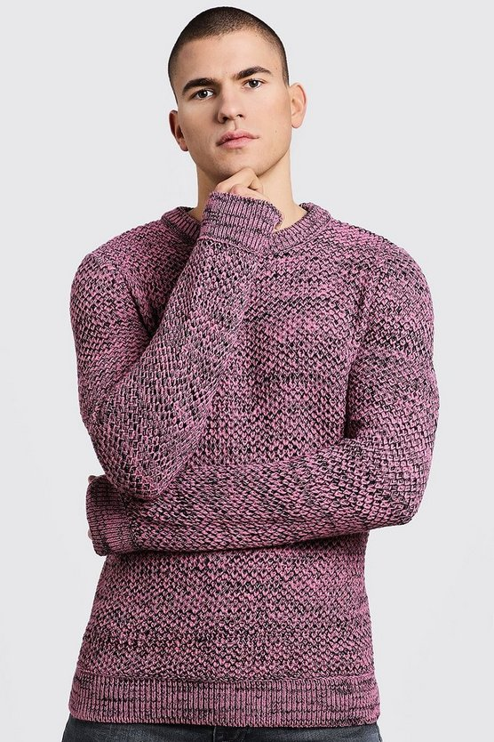 Twisted Yarn Knitted Jumper