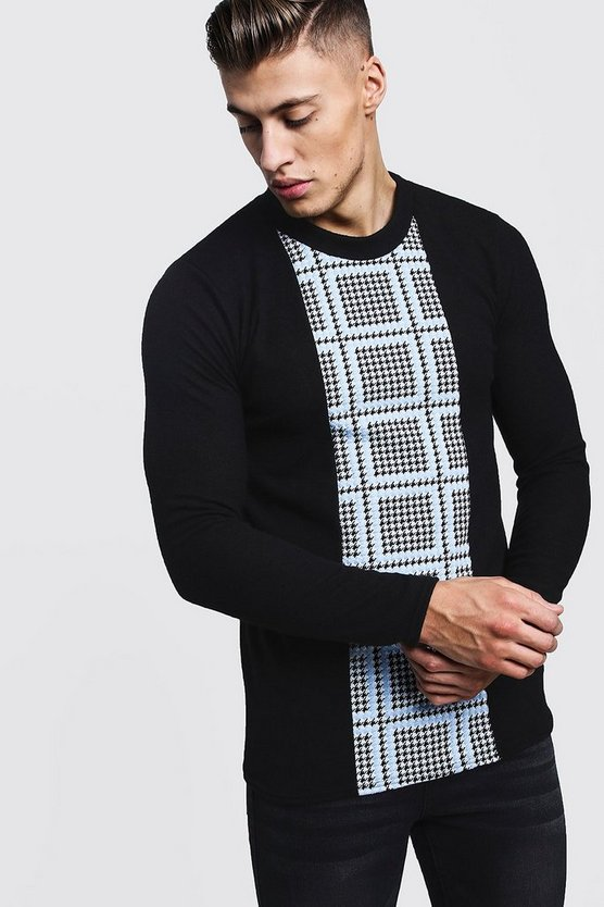 Houndstooth Panel Jumper