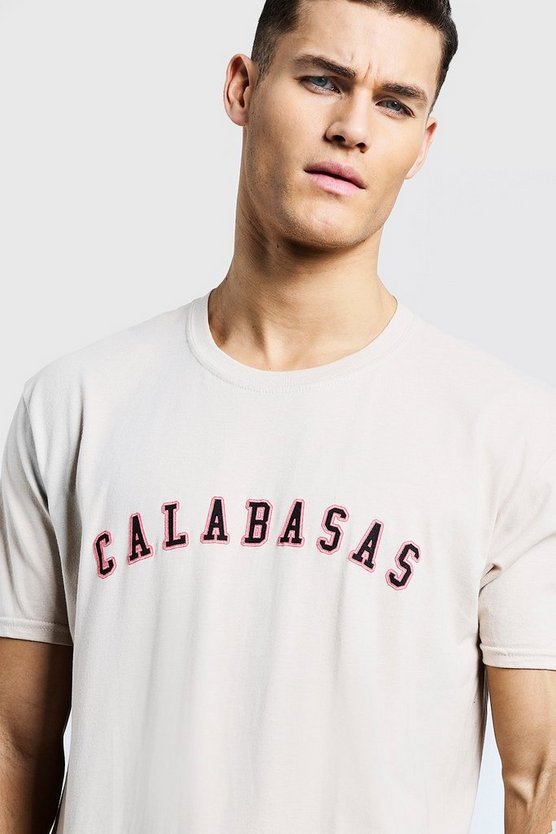 Loose Fit Calabasas High Build Print T-Shirt