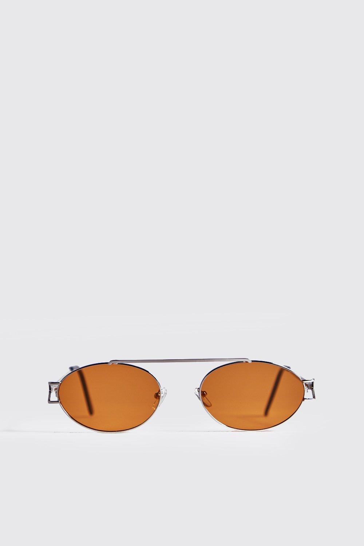 Yellow Lens Round Metal Frame Sunglasses