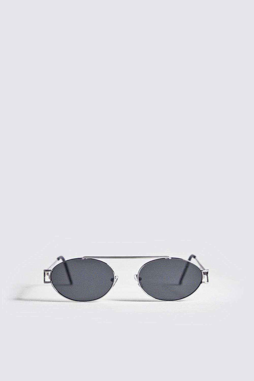 Black Lens Round Metal Frame Sunglasses