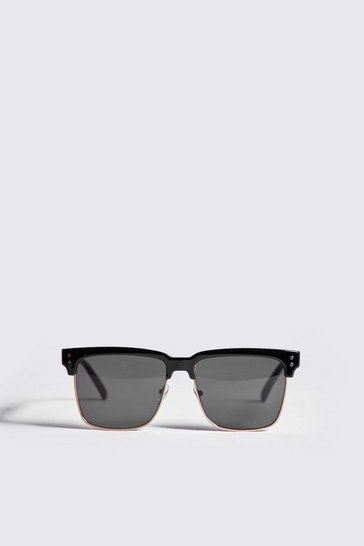 Black Square Lens Retro Sunglasses