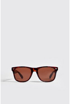 Mens Brown Classic Sunglasses With Tortoise Frame