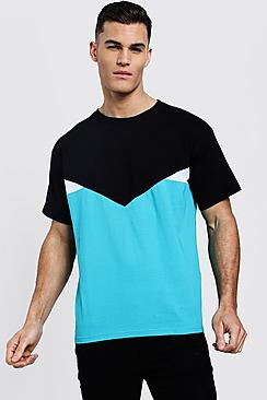 Chevron Spliced T-Shirt