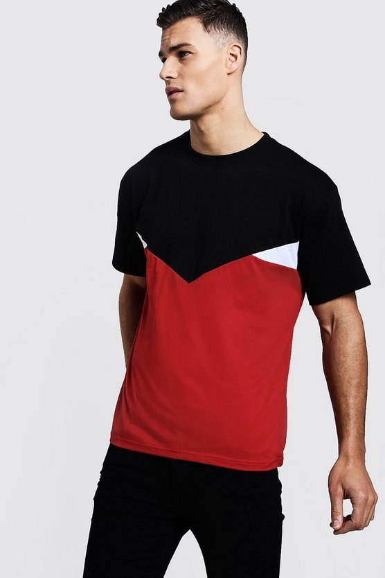 Chevron Spliced T-Shirt
