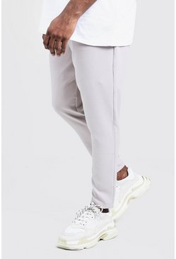 Mens Stone Big & Tall Plain Smart Jogger Trouser