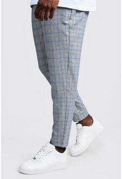 Mens Blue Big & Tall Ice Cream Check Jogger Trouser