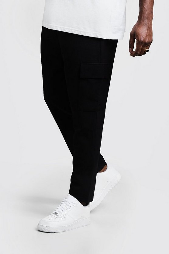 Black Big & Tall Utility Pocket Smart Jogger